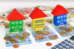 Euro House Finance Royalty Free Stock Photos