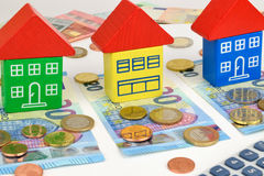 Euro House Money Royalty Free Stock Images