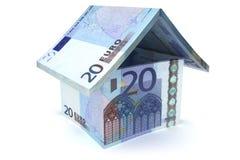 20 Euro Notes House Symbol. 20 Euro House Sign - 3d illustration vector illustration