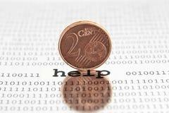 Euro hulp Stock Foto