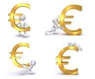 euro humano 3D Stock de ilustración