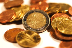 Euro I. Euro coins Royalty Free Stock Images