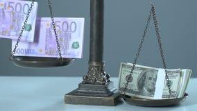 Euro i dolary dalej ważą, zmieniają w wymian walut tempach, rynek papierów wartościowych zdjęcie wideo