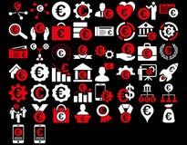 Euro icônes d'affaires illustration de vecteur