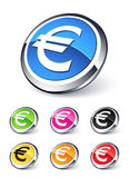 Euro icon. Clipart illustration design Stock Illustration
