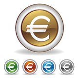euro icon. Set on white background Stock Photography