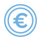 Euro icon. Euro color line icon vector illustration