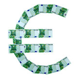 EURO icon of euro banknotes Stock Images