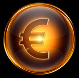Euro icon gold Royalty Free Stock Photography