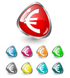Euro icon set, vector Royalty Free Stock Images