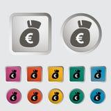 Euro icon. Royalty Free Stock Photo