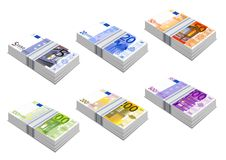 Euro icons. Illustration in vector vector illustration