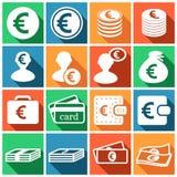 Euro icons Royalty Free Stock Photos