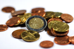 Euro II. Euro coins Royalty Free Stock Photography