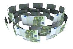 Euro im Geldumlauf Stockfoto