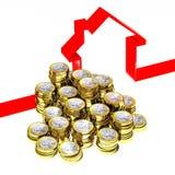 Euro imbroglione e casa 3d illustrazione vettoriale