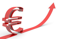 Euro increase. Royalty Free Stock Photo