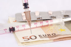Euro Injection Royalty Free Stock Photography