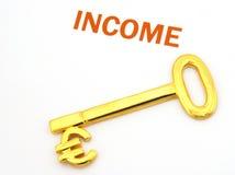 Euro inkomen Stock Foto