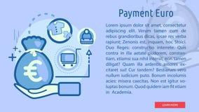 Euro insegna concettuale di pagamento Immagini Stock Libere da Diritti