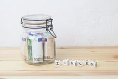 Euro intérêt allemand Image stock