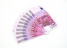 Euro intervalle d'argent. Image libre de droits