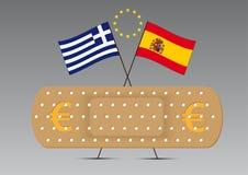 Euro intonaco attaccante dell'Ue Fotografia Stock Libera da Diritti