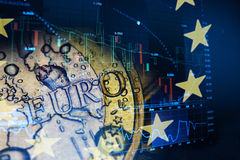Euro invest concept. Euro invest forex trading concept royalty free stock photos