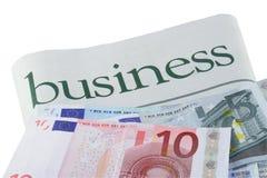 Euro investimento Fotografie Stock Libere da Diritti