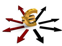 Euro Investment Directions Stock Images