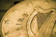 EURO Ireland Eire 10 cent Coin. A macro shot of the Ireland version of the 10cent Euro coin Royalty Free Stock Photos