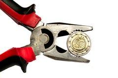 Euro irlandés bajo presión Fotos de archivo libres de regalías