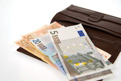 Euro isolado no branco Imagens de Stock
