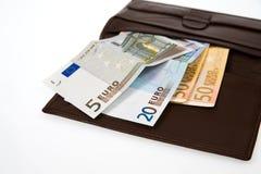 Euro isolado no branco Foto de Stock Royalty Free