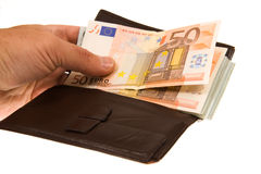Euro isolado no branco Fotos de Stock Royalty Free