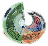 Euro isolata variopinta differente, ricchezza di risparmio Fotografie Stock