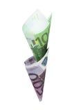Euro isolated. Money euro color image isolated on a white background Stock Image