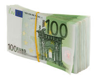 Euro. Isolated. A pack euro 1. Isolated Stock Photos