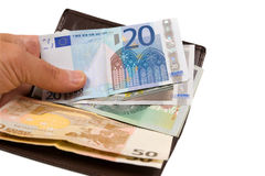 Euro isolato su bianco Fotografie Stock