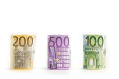 euro isolerade pengar Arkivbilder