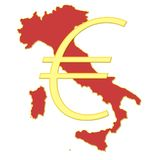 Euro in Italy Stock Photography