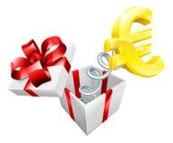 Euro Jack in de Doos vector illustratie