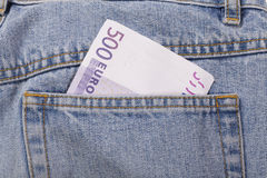 Euro jeans Stock Image