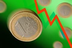 euro jeden Obrazy Stock