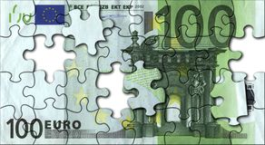 Euro jigsaw Royalty Free Stock Photos