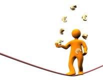 Euro- Jongleur da finança Imagem de Stock Royalty Free
