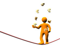 Euro Jongleur van Financiën Royalty-vrije Stock Afbeelding