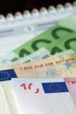 euro kalendarzowych pieniędzy znaków Fotografia Royalty Free