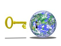 Euro is key. Euro money is key to all world Stock Photography