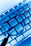 Euro key Computer keyboard close-up Royalty Free Stock Photography